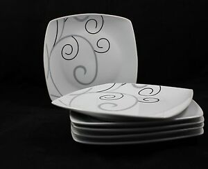 6-12-o-48-Piatto-Piano-da-Dessert-Torta-23cm-Porcellana-con-Decorazione