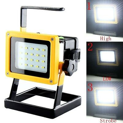 Outdoor Camping Hike 30W Work Light Rechargeable 20LED Flood SpotLamp NO BATTERY