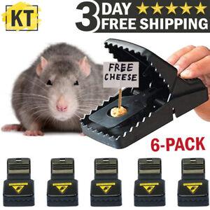 6-PACK Reusable MOUSE TRAPS Rat Trap Rodent Snap Trap Mice Trap Catcher Killer