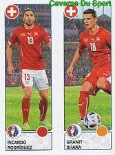 098 RICARDO RODRIGUEZ / GRANIT XHAKA SWITZERLAND STICKER EURO 2016 PANINI