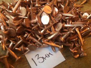 50g-13mm-1-2-034-SOLID-COPPER-FINE-CUT-TACKS-LARGE-HEAD-RESTORE-BOAT-GARDEN-DECOR