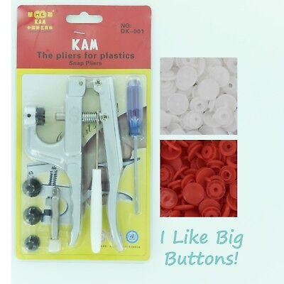 250 Military Starter Pack Kit//Pliers KAM Snap//Plastic Snaps//Cloth Diaper//Green