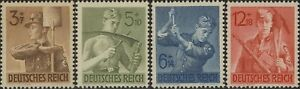Stamp-Germany-Mi-850-3-Sc-B237-40-1943-WWII-3rd-Reich-Labor-Workers-Service-MH
