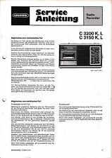 Service Manual-Anleitung für Grundig C 3200, C 3150