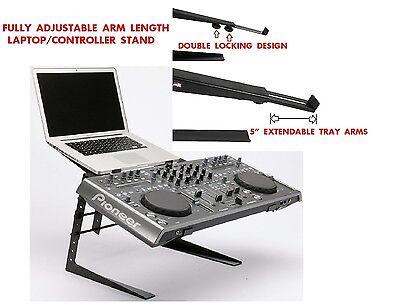 CedarsLink Heavy Duty Studio Controller And Laptop Computer DJ Rack Stand Mount