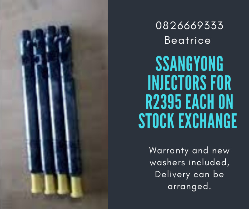 Ssangyong Injectors available on stock exchange