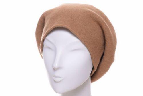 Kopka stegbaske laine beige béret XL Volume Basque Bonnet Hiver Bonnet en laine