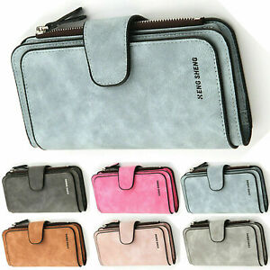 US-Women-Ladies-Long-Leather-Trifold-Card-Wallet-Clutch-Checkbook-Purse-Handbag
