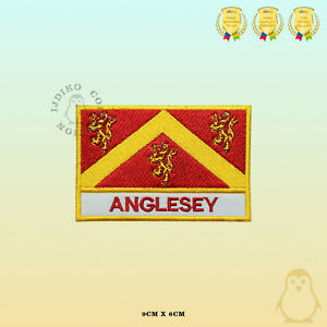 ANGLESEY-County-Flag-With-Name-Embroidered-Iron-On-Sew-On-Patch-Badge