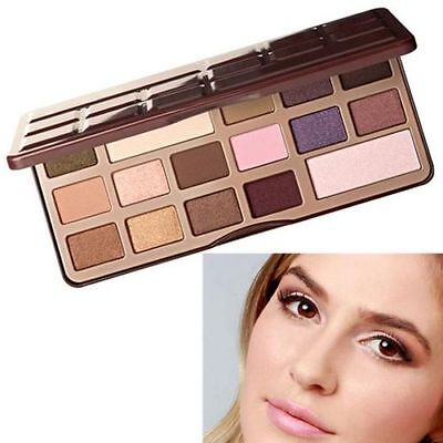 16Color Warm Professional Eyeshadow Choclate Cosmetic Makeup Palette &Mirror Set