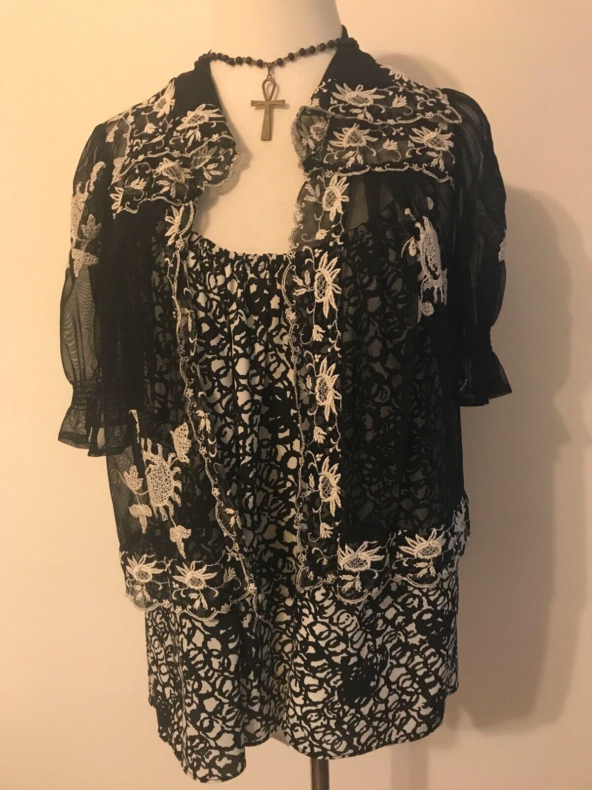 Balenciaga Black and White Silk Multi Strap Camis… - image 7