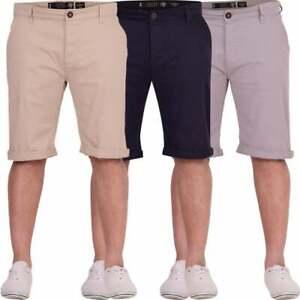 Crosshatch-Mens-Chinos-Pantalones-Cortos-Puro-Algodon-Smart-Casual-Corto-de-Vacaciones-de-Verano