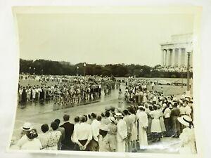 Franklin-Roosevelt-039-s-Funeral-Caisson-y-Ataud-Abril-1945-Original-8x10-Foto