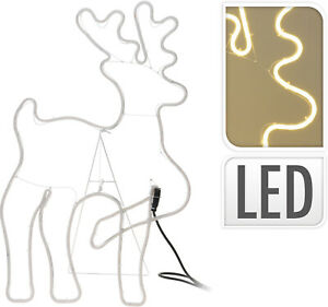 Reindeer Light Tube 300 LED Warm White 50x80 CM Accessories Decorating Home