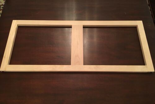 """Unfinished Natural Birch Top Cabinet Face Frame 36/"""" X 15/"""""""