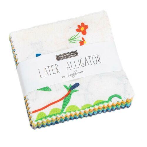 Moda Fabric Later Aligator Mini Charm - Patchwork Quilting 2.5 Inch Squares