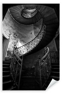 Postereck-3436-Poster-amp-Leinwand-Treppenaufgang-Treppe-Schnecke-Wendeltreppe