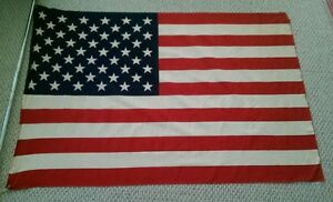 Vintage 50 Stars 37 x 55 United States. Of American Flag cotton