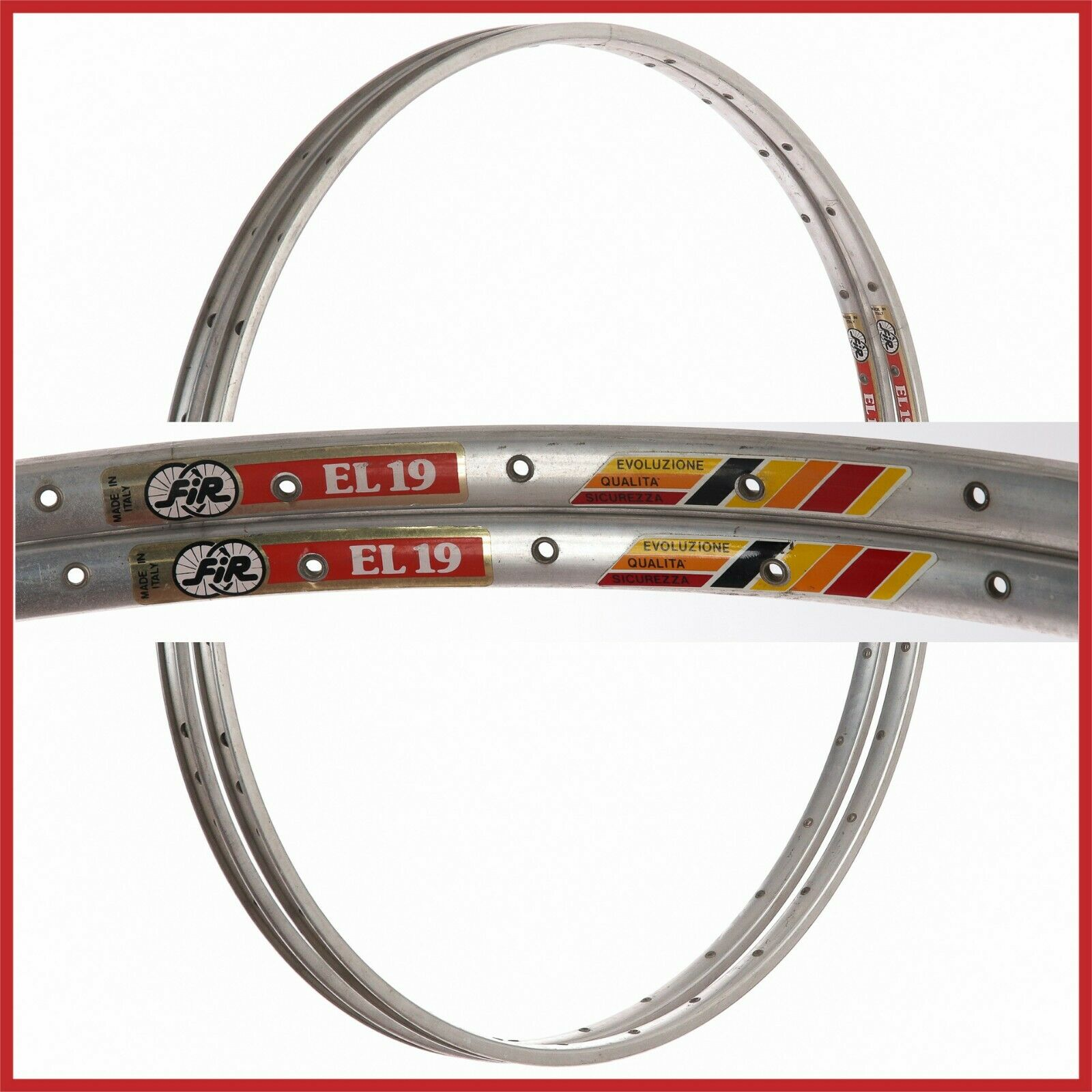 NOS FIR EL19 RIMS 28  700c 32H VINTAGE CLINCHERS 80s ROAD RACING BIKE EL 19 NEW