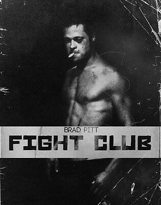 "22 Fight Club - 1999 American Film Brad Pitt Edward Norton 14""x18"" Poster"