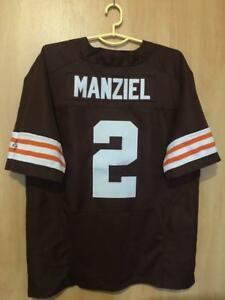 meet 4c61d fd446 Details about NFL CLEVELAND BROWNS AUTHENTIC AMERICAN FOOTBALL JERSEY NIKE  JOHNNY MANZIEL #2