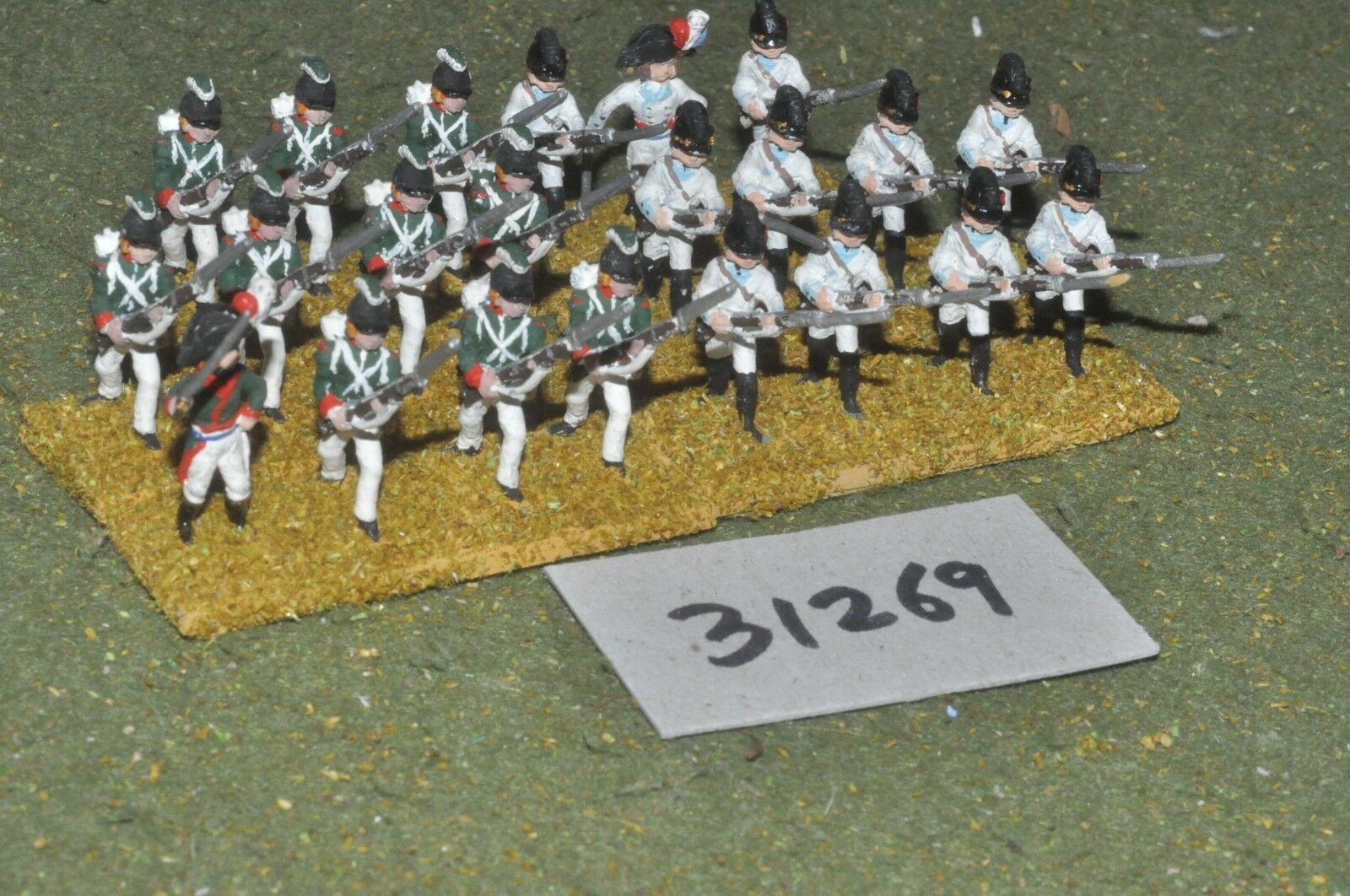 25mm napoleonic   french - revolutionary line 22 figures - inf (31269)