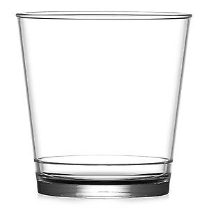 Elite en 2 Stax polycarbonate Roches verres 9 Oz (environ 255.14 g) - Lot de 48-Whisky Gobelets