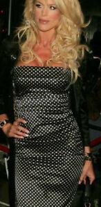 AUTH-Dolce-amp-Gabbana-Silk-polka-dot-strapless-sheath-Dress-40