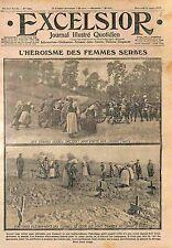 Tombs Serbia Serbian Women Balkans War Femme de Serbie Armée Serbe WWI 1915