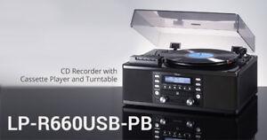 TEAC LP-R660USB-PB Turntable / Cassette / CD-R / AM/FM Player