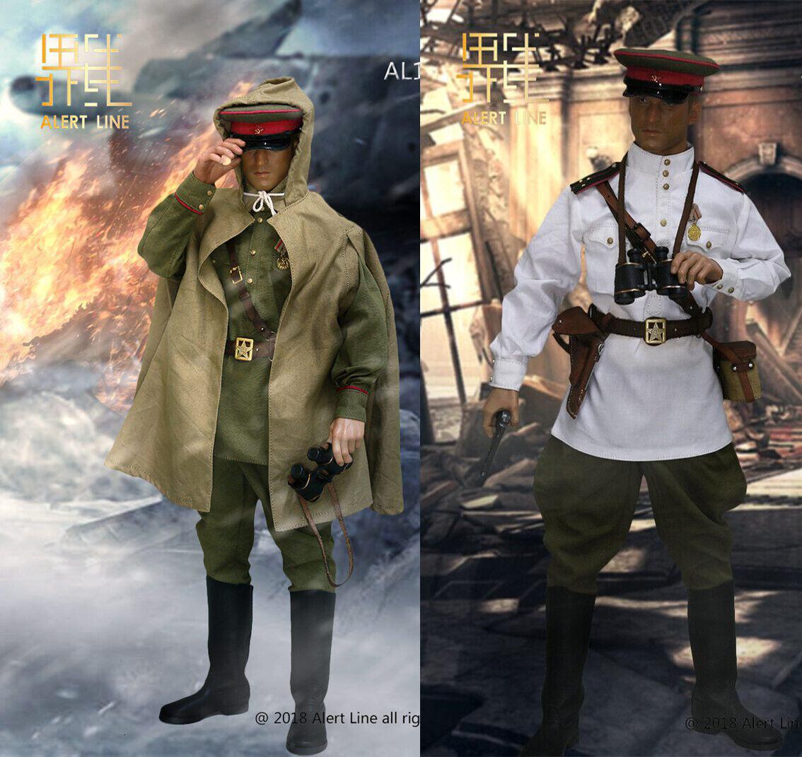 1 6th SECONDA GUERRA MONDIALE URSS Armata Rossa Sovietica  Capitano Ufficiale Soldato vestiti F 12  cifra  il miglior servizio post-vendita