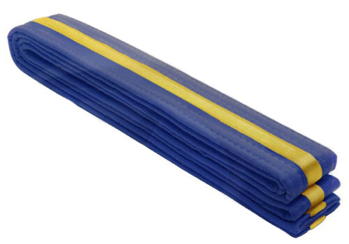 Gold Stripe Belts 4cm Wide Double Wrap Size Karate//Taekwondo//Judo//Kendo//Hapkido