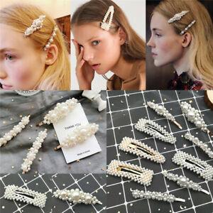 Pince-A-Cheveux-Perle-Barrette-Baton-epingle-Femme-Accessoires-pour-Cheveu-FP