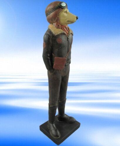 Personaggio cane VOLO PILOTA Polystein colorate 33x10cm REGALO DECORAZIONE STAND personaggio