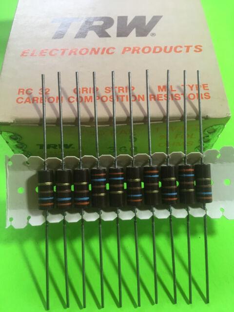 1//4 Watt 10/% 15 Ohm Carbon Composition Resistor NOS