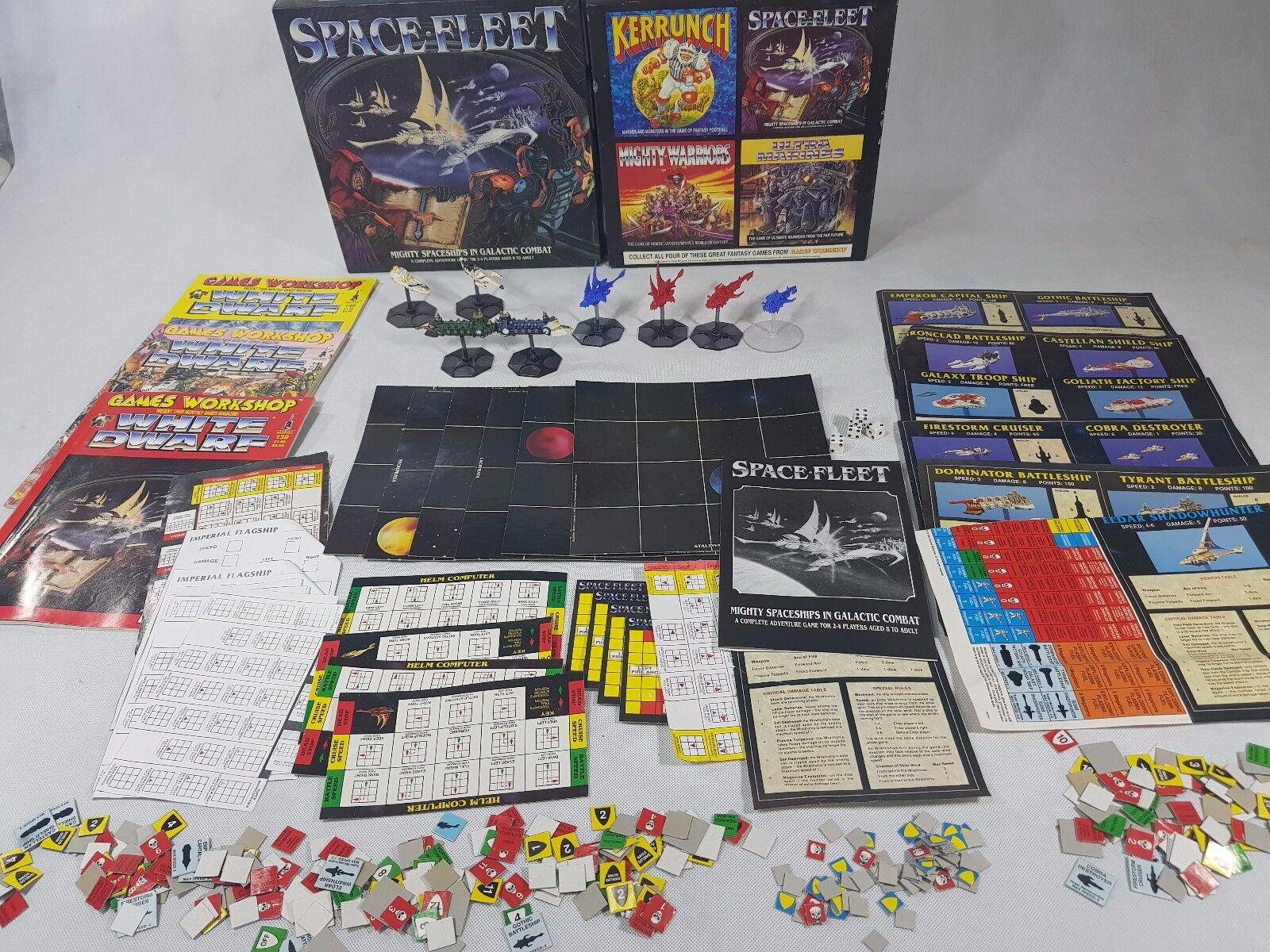 Space Fleet Warhammer 40k Board Game Big bundle many EXTRAS [ENG, 1991]