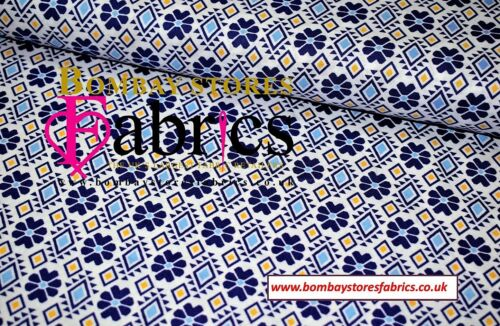 Geometría de impresión de 100/% Algodón Popelín material de tela impresa de alta calidad de 44/' de ancho