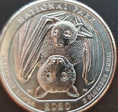 2020 P D American Samoa National Park Samoan Fruit Bat Quarter Best PD /<$1.93=4+