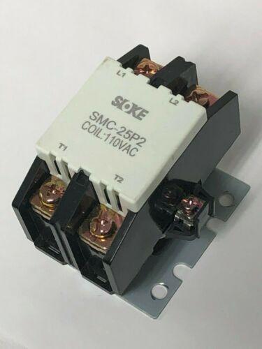 SMC-25P2 Coil 110//120V Definite Purpose Contactor 2 Pole AC Heater RB25