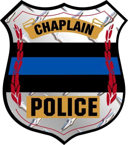 Fina linha azul capelã Distintivo Polícia Decalque Janela De Diamante Aplicação da Lei