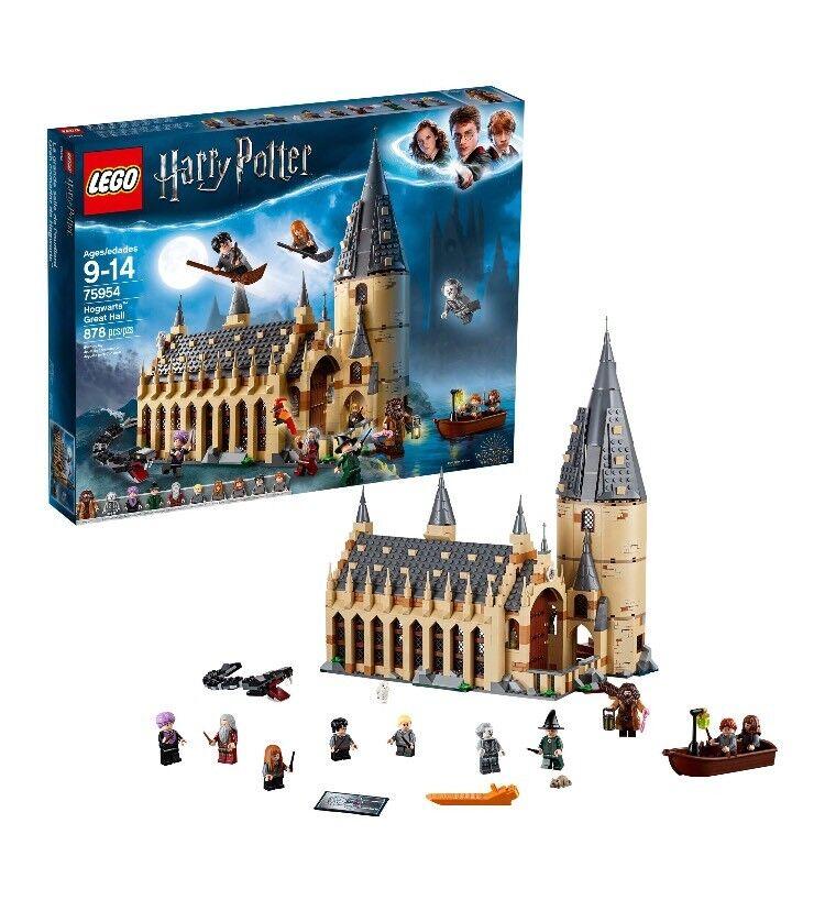 Lego Harry Potter Hogwarts Great Hall Castle Set Legos Kit WithMinifigures 75954