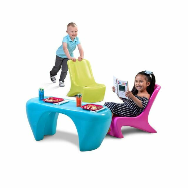 Children S Table Chair Set Step2 Playroom Activity 3 Piece Plastic