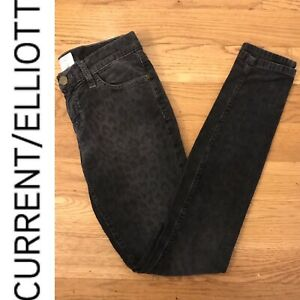 buying new get online good out x Details about Current/Elliott Washed Black Leopard Print Ankle Skinny  Corduroy Jeans Size 26