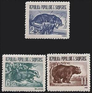 al-al Wild Animals Fr.albania 1961 Sc#589-91 Mnh Cv$25.00 Nourishing Blood And Adjusting Spirit