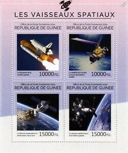 Brillant Satellites D'observation De La Terre (nasa Navette Spatiale/iss/uars) Timbre Feuille (2014)-rs) Stamp Sheet (2014)fr-fr Afficher Le Titre D'origine