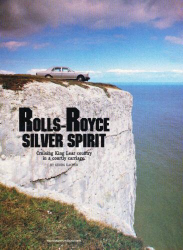 1986 Rolls Royce Silver Spirit Original Car Review Print Article J343