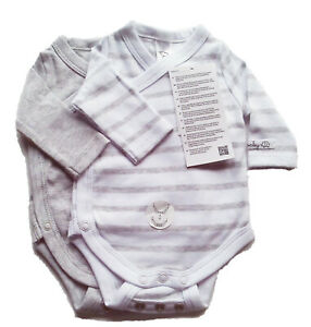 3x KA Wickel Body Gr.44 H/&M NEU 100/% Baumwolle bio set baby frühchen rosa weiß