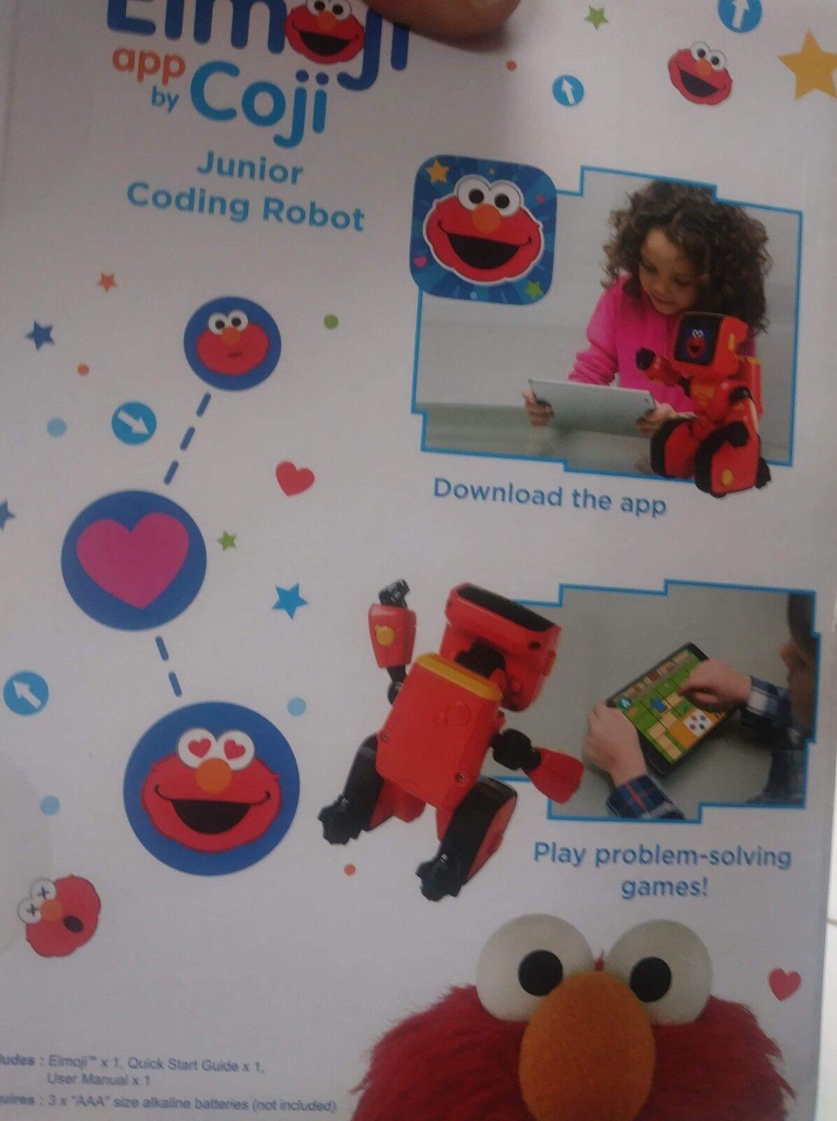 WowWee Sesame Street Elmoji Junior Coding Robot - NEW