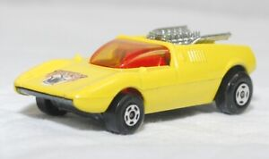 MATCHBOX SUPERFAST-R-001B VER 5, MOD ROD, YEL, CHM ENG, AMB WIN, UNP BASE JB1392