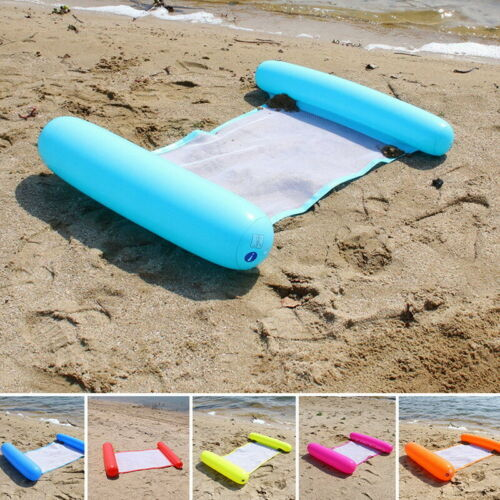 Pump! Inflatable Floating Water Hammock Float Pool Lounge Bed Swimming Chair